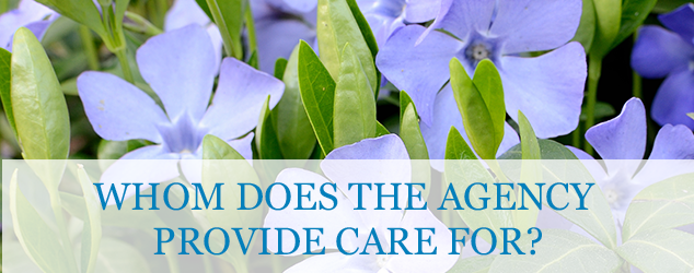 Whom does the agency provide care for?